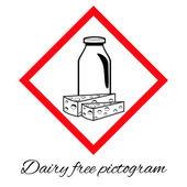 Mléčné free vektorové piktogram