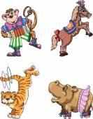 Cirkus. cirkusová zvířata