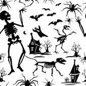 Fényképek Mintás, fekete-fehér, silhouette, csontváz, denevér, csirke-csontváz, pók, csontváz macska