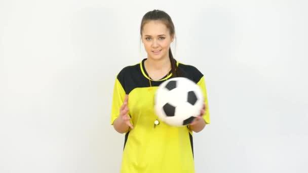 Játékvezető játék a futball-labda