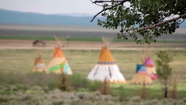 Rezervace indických indiánských stanech