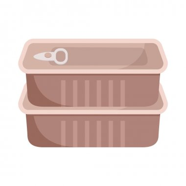 Metal tin can icon without label. Long-term storage of meat or fish icon