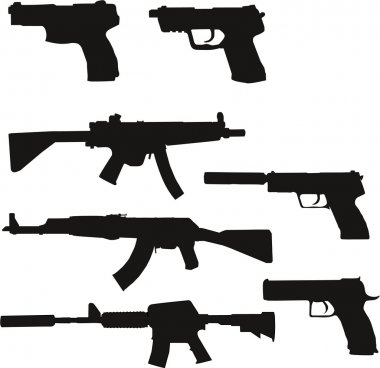 Weapon Silhouettes Set