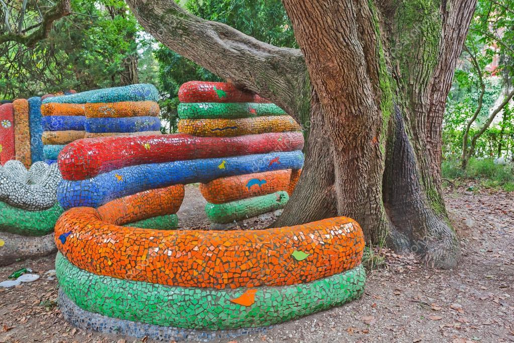 instalacin de mosaico para nios juegos infantiles parque u foto de stock