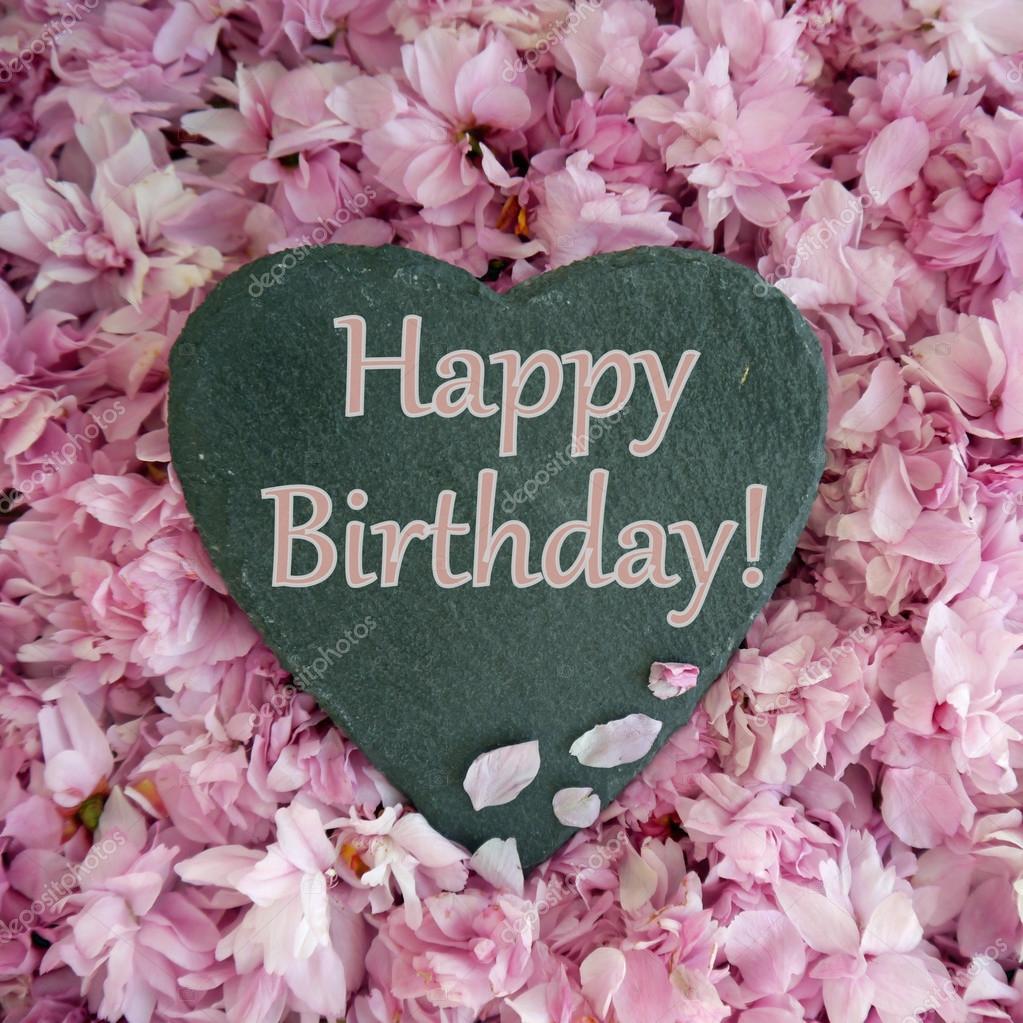 születésnapi virágos képek Szív  és virág születésnapi üze— Stock Fotó © lizzylou #116726850 születésnapi virágos képek