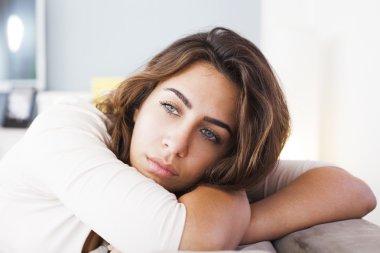 Lonely sad woman
