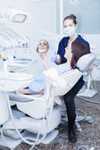 Photo Woman visiting her dentist