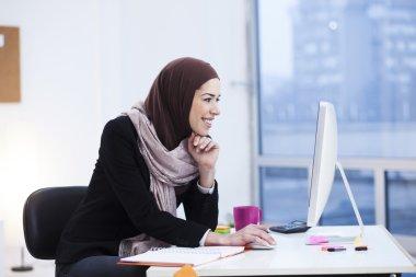 Arabian business woman in office