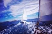 Plachetnice jachta na Jadranu
