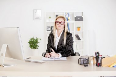 Business young women in office