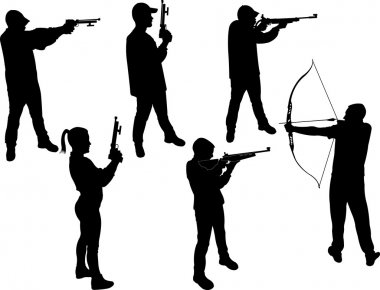 marksman vector silhouette