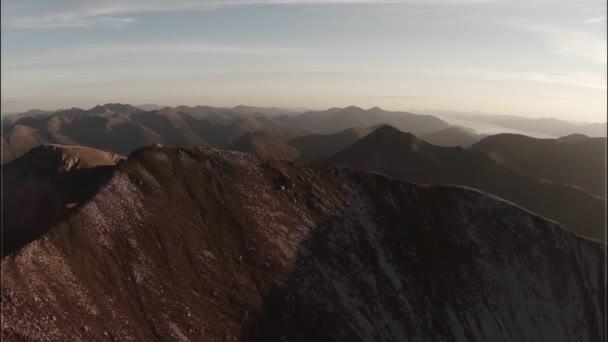 Nádherný Vzdušný záběr na Sgurr aMhaim mountain, Skotská vysočina