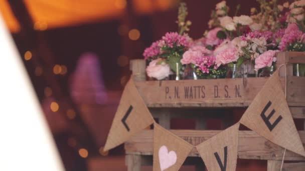 Slider shot of entrance to wedding venue