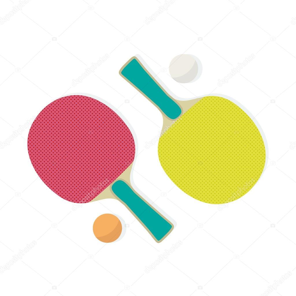8a1b6df48 Ping-pong ou tênis de mesa. Raquete e bola — Vetores de Stock ...