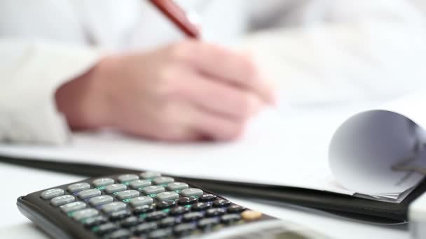 Business person analysis financial data