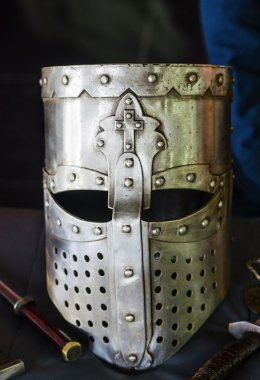 Knight's helmet. Reconstruction