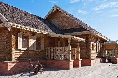 Orenburg. National Village. Russian house-museum