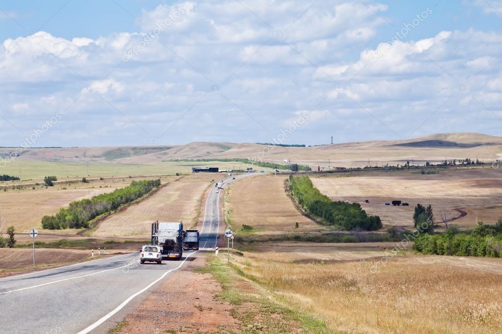 Rural landscape with highway