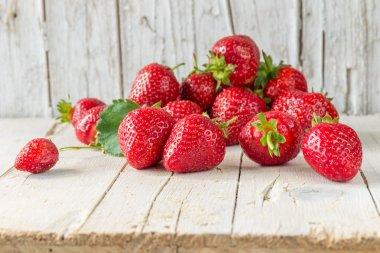 Ripe strawberries. Healthy eating