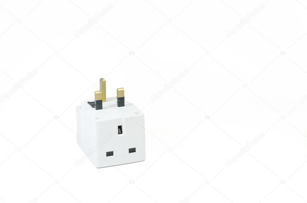 Three way electric socket — Stock Photo © norazaminayob #72255085