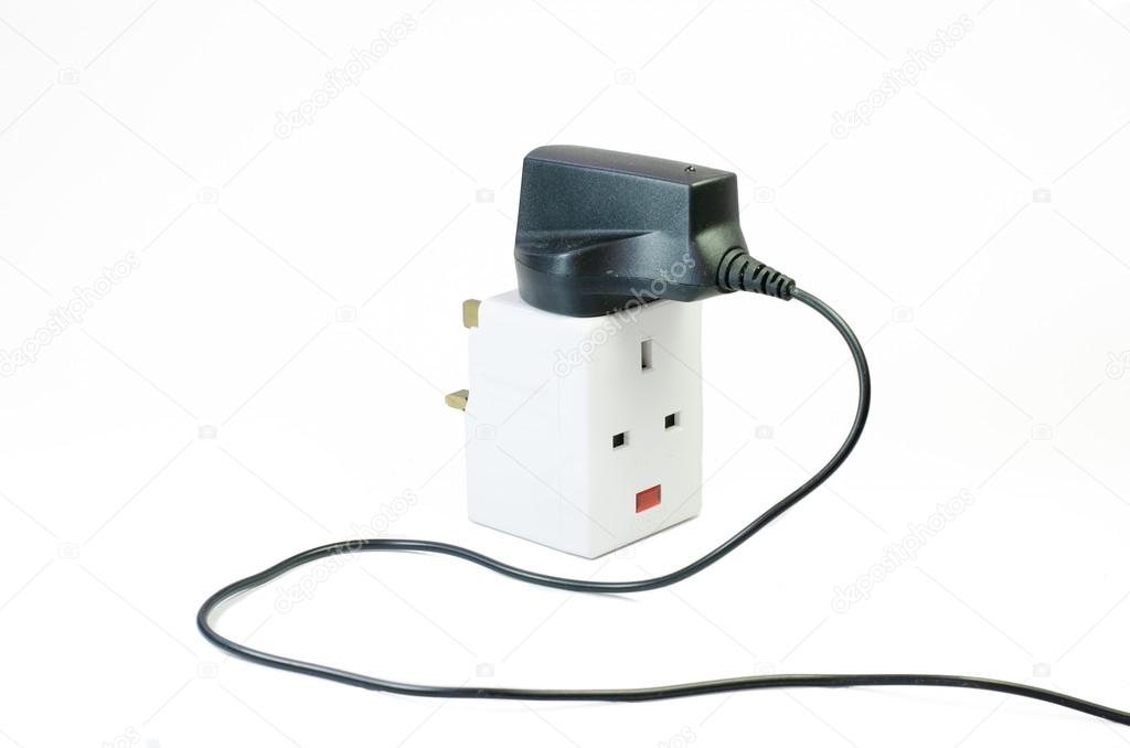 Three way electric socket — Stock Photo © norazaminayob #72256205
