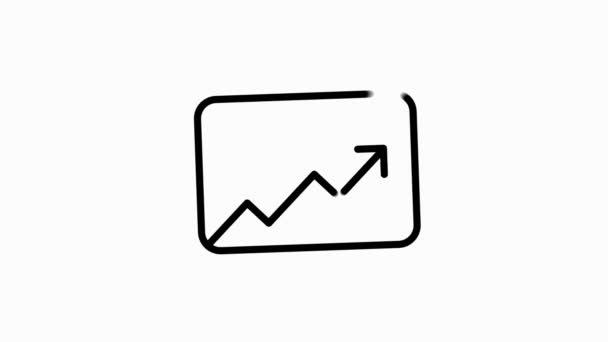 ELECTRONICS-Symbol mit Liniendesign isoliert auf weißem Hintergrund. Bewegungsgrafik.
