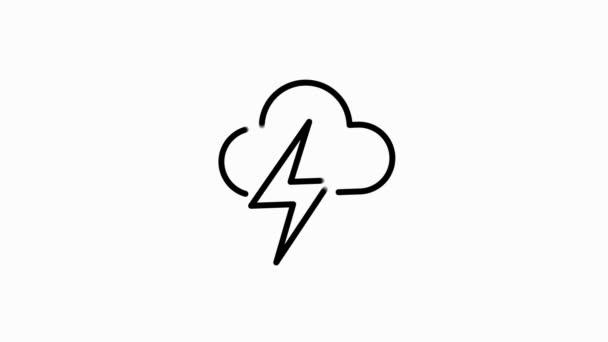 Wetterleitungs-Symbol für moderne Konzepte, Web und Apps auf weißem Hintergrund. Bewegungsgrafik.
