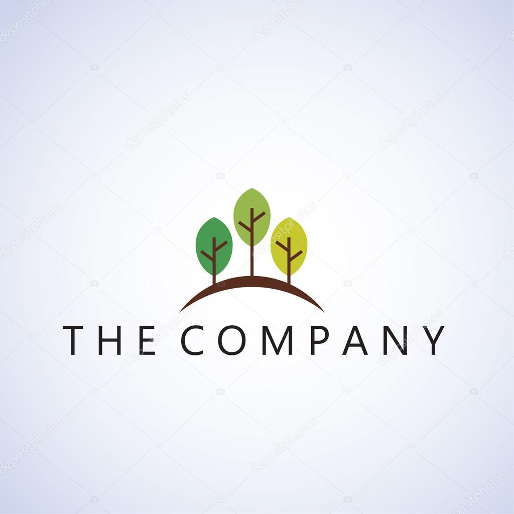 Tree Logo Ideas Design Vector Illustration On Background Vector Image By C Naresx36 Vector Stock 123445436