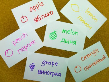 Language Flash Cards Russian