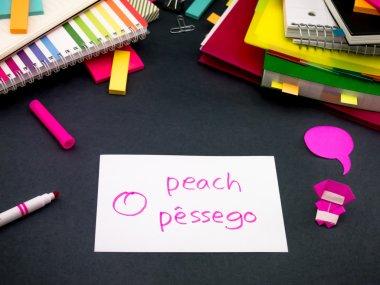 Learning New Language Making Original Flash Cards; Portuguese