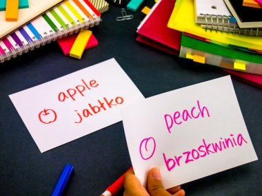 Learning New Language Making Original Flash Cards; Polish