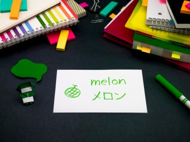 Learning New Language Making Original Flash Cards; Japanese
