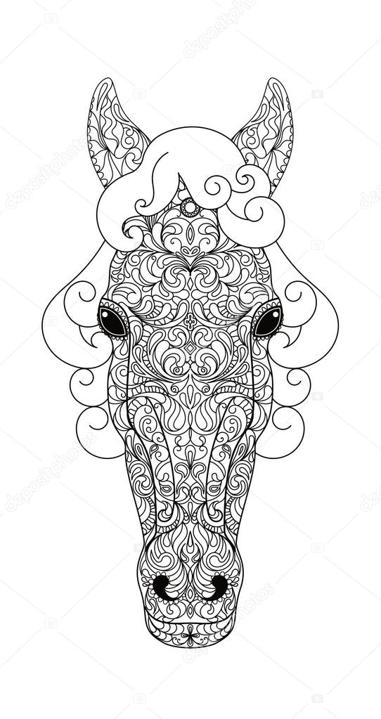 Horse Head Vector Illustration Stock Vector C Instantsweet