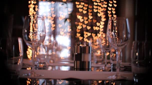 Restaurace stůl k večeři