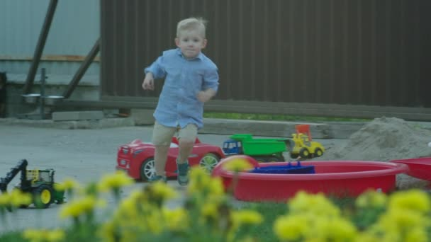 Boy Running to the Mother from the Playground
