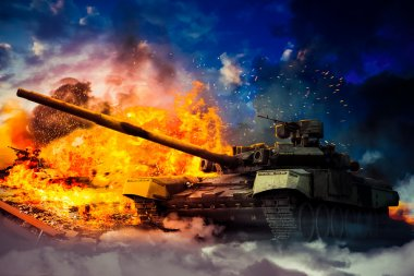 The military destroyed the enemy tank