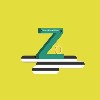 The letter of the alphabet - Z. Zero, zip, zebra crossing