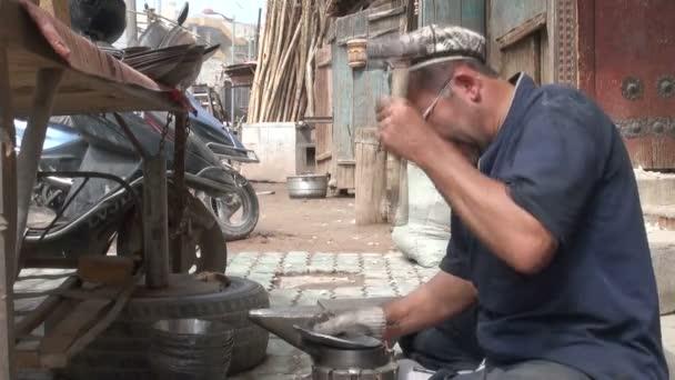 man making artecrafts