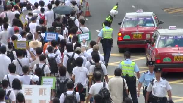 Protesters take part in a rally