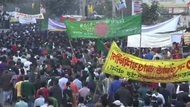 People on streets during Victory Day