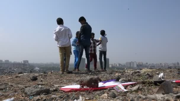 children play with kites
