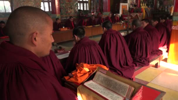 Monks chant mantras