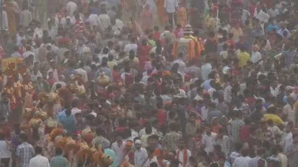 Crowds celebrate the end of Dussehra