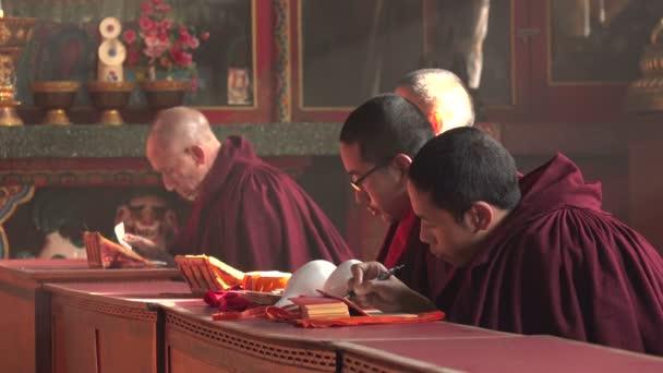 Monks chant mantras