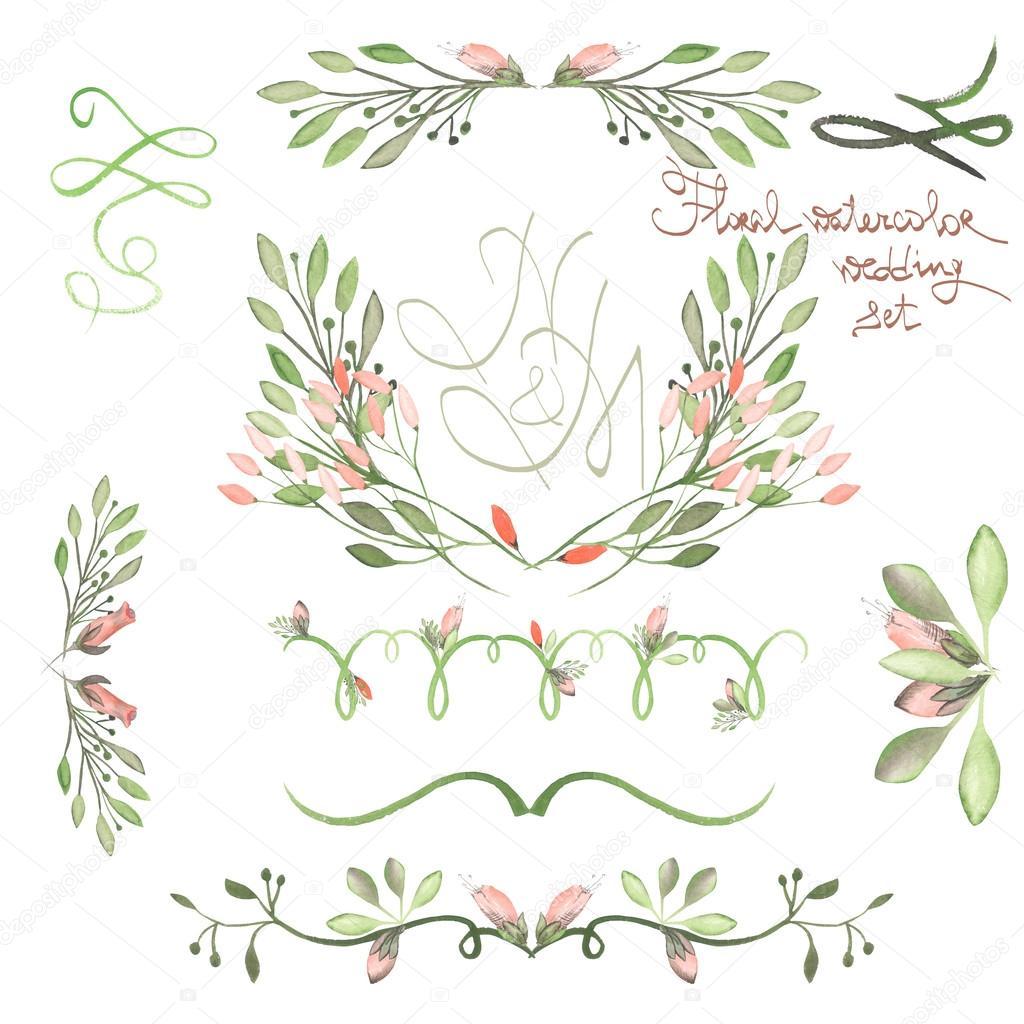 Conjunto con bordes de marco, ornamentos decorativos flores con ...