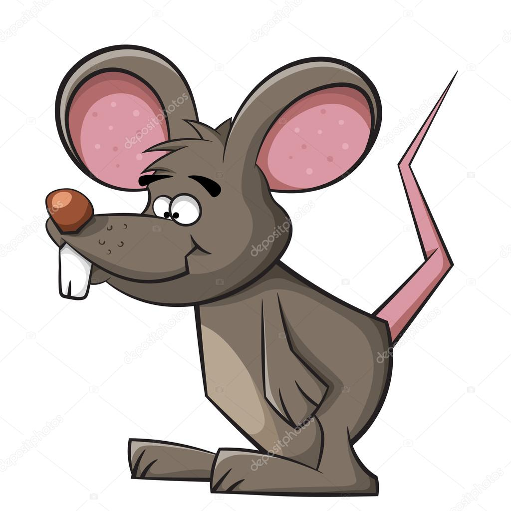 Stock Illustration Cute Mouse Funny Rat Illustration