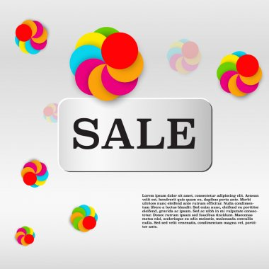 Sale template with colorful circles