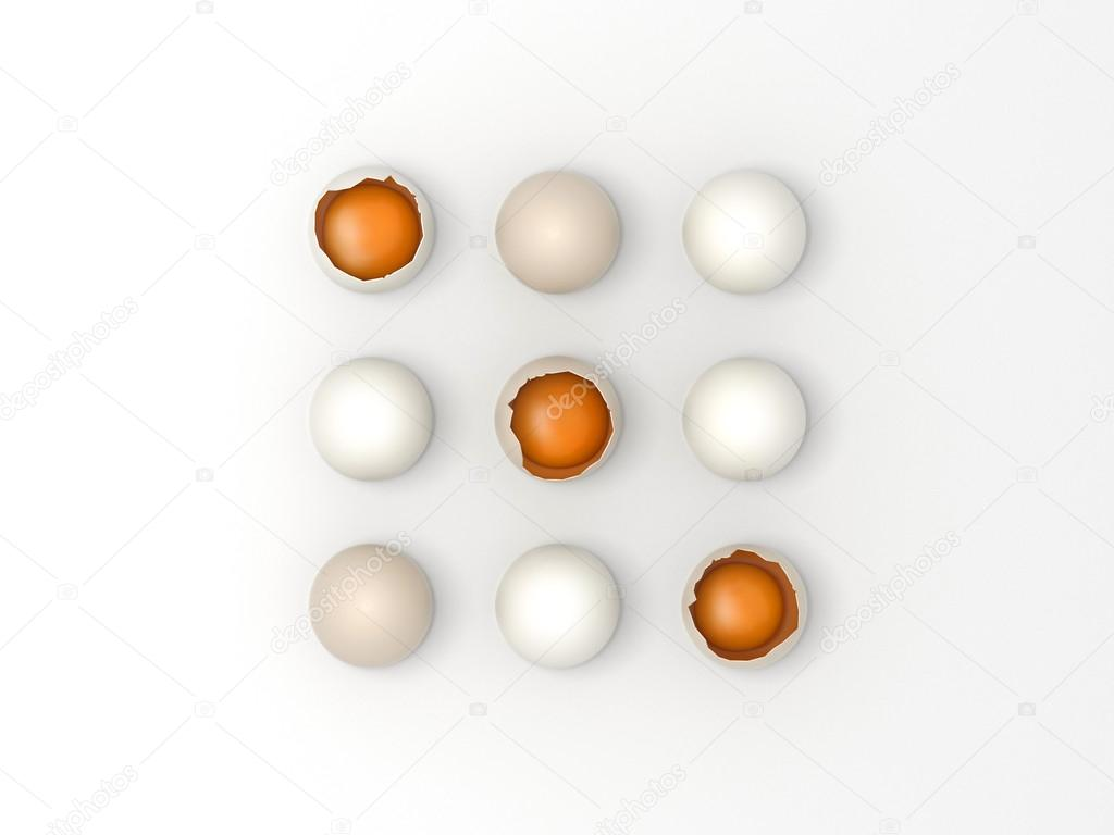 Easter eggs game - Noughts and Crosses