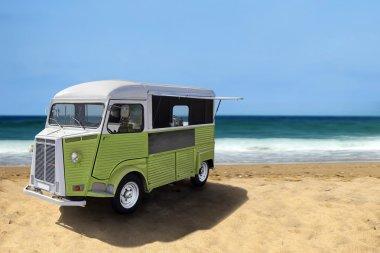Food truck on the beach