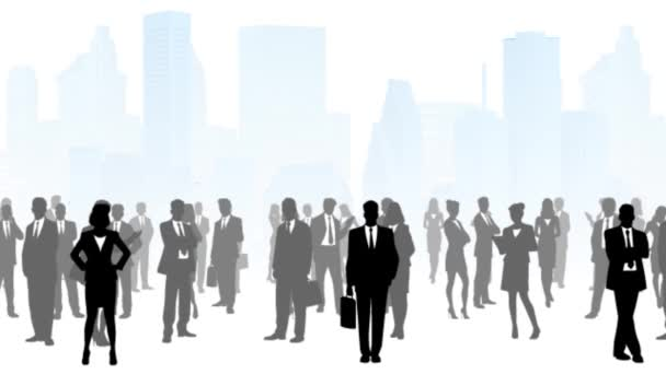 Business people in city
